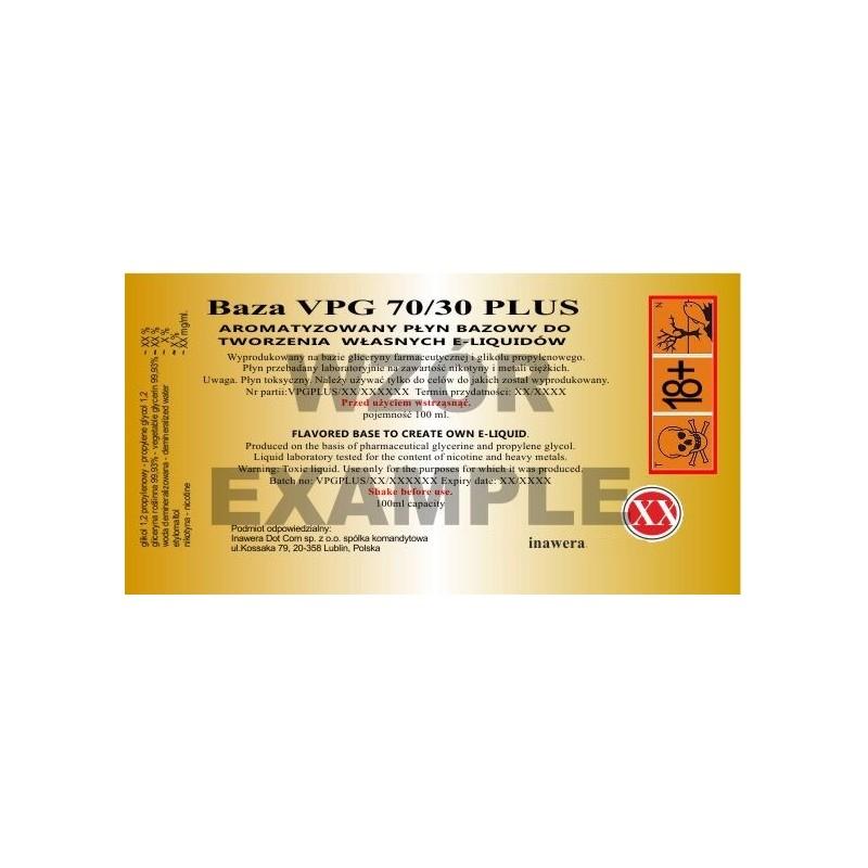 Inawera - VPG 70/30 Plus 0mg - 100 ml