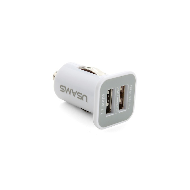 USB Car Charger with 2 output ports