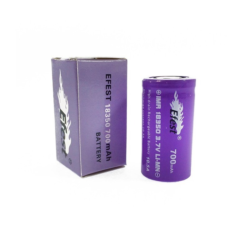Efest IMR 18350 High Drain 10.5amp Flat Top 700mah Rechargeable Battery