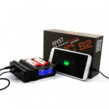 Efest Luc S2 LCD Multi-function universal battery charger with car adapter